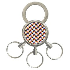 Wave Rope 3-Ring Key Chains