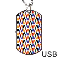 Wave Rope Dog Tag USB Flash (One Side)
