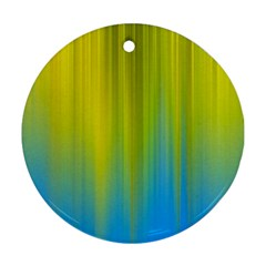 Yellow Blue Green Ornament (Round)