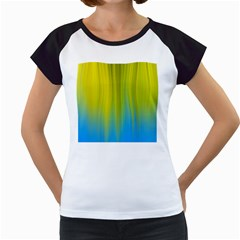 Yellow Blue Green Women s Cap Sleeve T