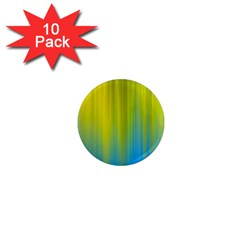 Yellow Blue Green 1  Mini Magnet (10 pack)