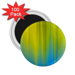 Yellow Blue Green 2.25  Magnets (100 pack)