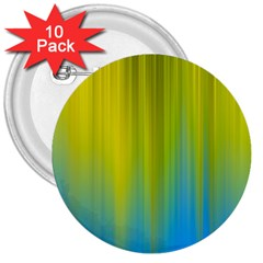 Yellow Blue Green 3  Buttons (10 pack)