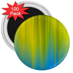 Yellow Blue Green 3  Magnets (100 pack)