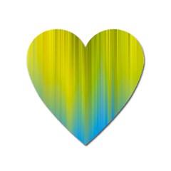 Yellow Blue Green Heart Magnet