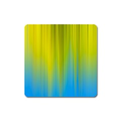 Yellow Blue Green Square Magnet