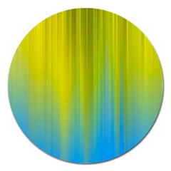 Yellow Blue Green Magnet 5  (Round)