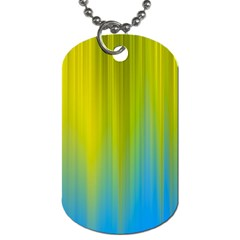 Yellow Blue Green Dog Tag (One Side)