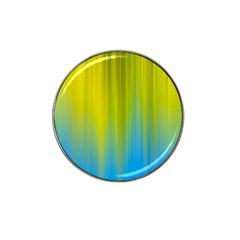 Yellow Blue Green Hat Clip Ball Marker