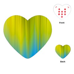 Yellow Blue Green Playing Cards (Heart)