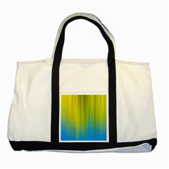 Yellow Blue Green Two Tone Tote Bag