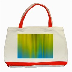 Yellow Blue Green Classic Tote Bag (Red)