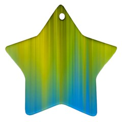 Yellow Blue Green Star Ornament (Two Sides)