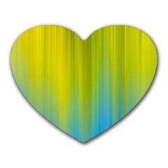 Yellow Blue Green Heart Mousepads