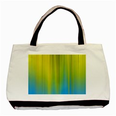 Yellow Blue Green Basic Tote Bag (Two Sides)