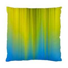 Yellow Blue Green Standard Cushion Case (Two Sides)