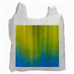 Yellow Blue Green Recycle Bag (Two Side)