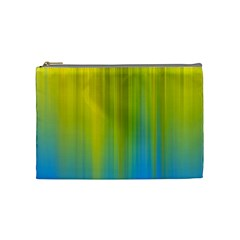 Yellow Blue Green Cosmetic Bag (Medium)