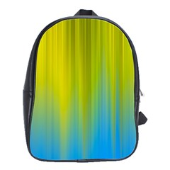 Yellow Blue Green School Bags(Large)