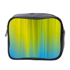 Yellow Blue Green Mini Toiletries Bag 2-Side