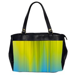 Yellow Blue Green Office Handbags (2 Sides)