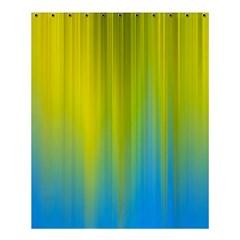Yellow Blue Green Shower Curtain 60  x 72  (Medium)