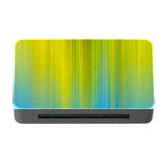 Yellow Blue Green Memory Card Reader with CF