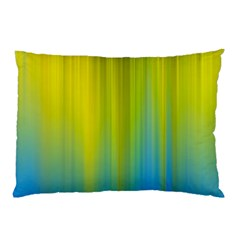 Yellow Blue Green Pillow Case (Two Sides)