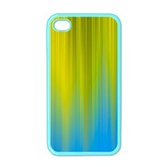 Yellow Blue Green Apple iPhone 4 Case (Color)