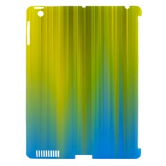 Yellow Blue Green Apple iPad 3/4 Hardshell Case (Compatible with Smart Cover)