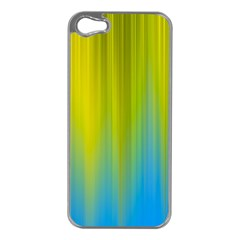 Yellow Blue Green Apple iPhone 5 Case (Silver)