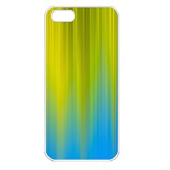 Yellow Blue Green Apple iPhone 5 Seamless Case (White)