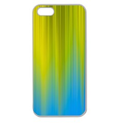 Yellow Blue Green Apple Seamless iPhone 5 Case (Clear)