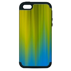 Yellow Blue Green Apple iPhone 5 Hardshell Case (PC+Silicone)