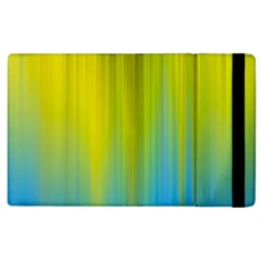 Yellow Blue Green Apple iPad 2 Flip Case