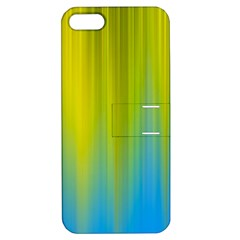 Yellow Blue Green Apple iPhone 5 Hardshell Case with Stand