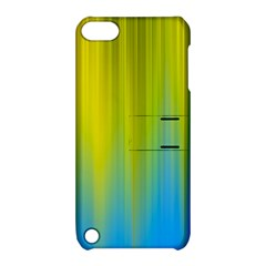 Yellow Blue Green Apple iPod Touch 5 Hardshell Case with Stand