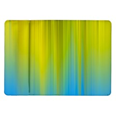 Yellow Blue Green Samsung Galaxy Tab 10.1  P7500 Flip Case