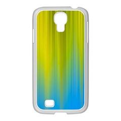 Yellow Blue Green Samsung GALAXY S4 I9500/ I9505 Case (White)
