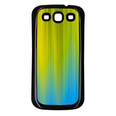 Yellow Blue Green Samsung Galaxy S3 Back Case (Black)