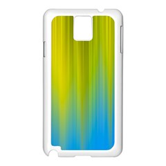 Yellow Blue Green Samsung Galaxy Note 3 N9005 Case (White)