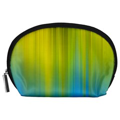Yellow Blue Green Accessory Pouches (Large)
