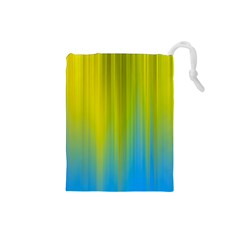 Yellow Blue Green Drawstring Pouches (Small)