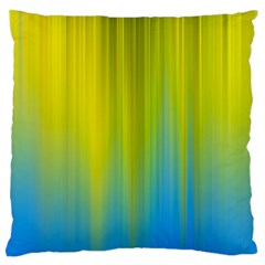 Yellow Blue Green Large Flano Cushion Case (Two Sides)