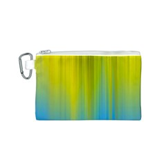 Yellow Blue Green Canvas Cosmetic Bag (S)