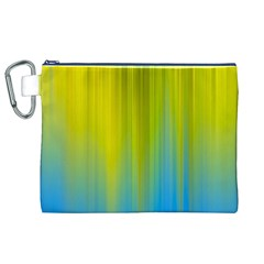 Yellow Blue Green Canvas Cosmetic Bag (XL)
