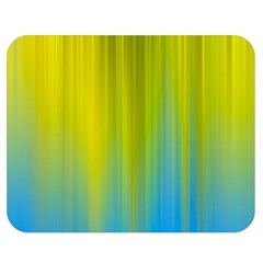 Yellow Blue Green Double Sided Flano Blanket (Medium)