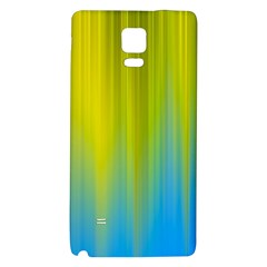 Yellow Blue Green Galaxy Note 4 Back Case