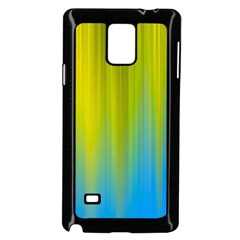 Yellow Blue Green Samsung Galaxy Note 4 Case (Black)