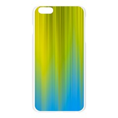 Yellow Blue Green Apple Seamless iPhone 6 Plus/6S Plus Case (Transparent)